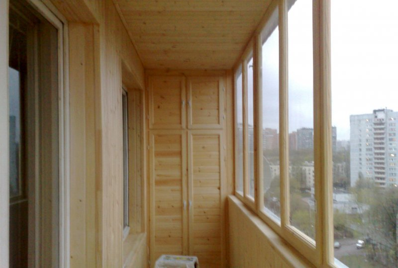 Отделка лоджий и балконов, отделка лоджий деревом, фото 2 кр.