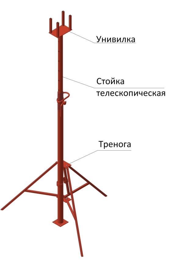 сколько весит телескопическая стойка